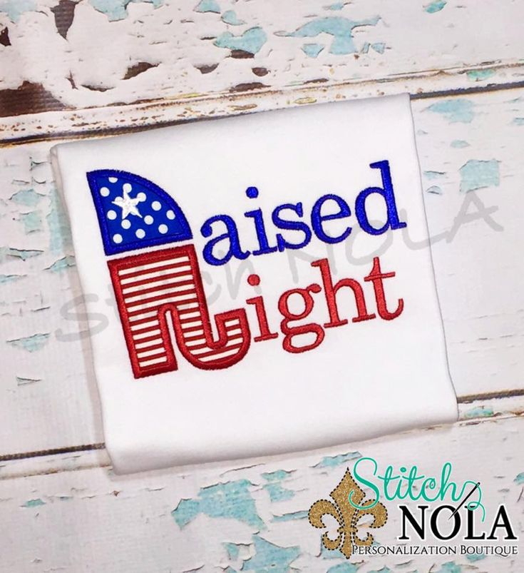 Raised Right Republican Themed Tee, Bodysuit, Bubble, Romper or Gown - pinned by pin4etsy.com