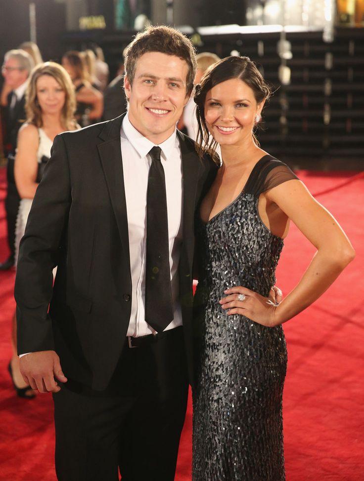Steve Peacocke and girlfriend Bridgette .Photo - 2013 Logie Awards - Arrivals