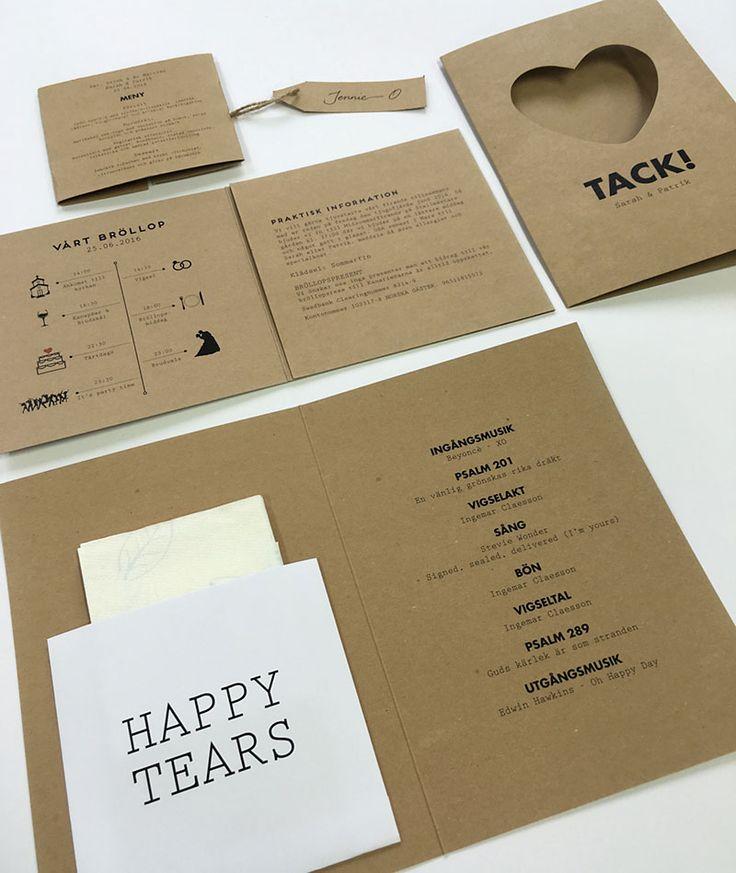 Om ni har specifika önskemål på hur ert eget bröllopskort ska se ut så kan ni designa det ihop med våra designers. Gäller alla kort som tillhör ett bröllop