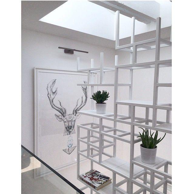 contemporary white stairs by capo-architectes painting by Camille Pozzo di Borgo site web: www.capo-architectes.com