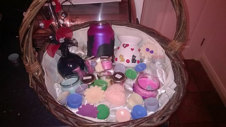Scented candle and melts hamper.