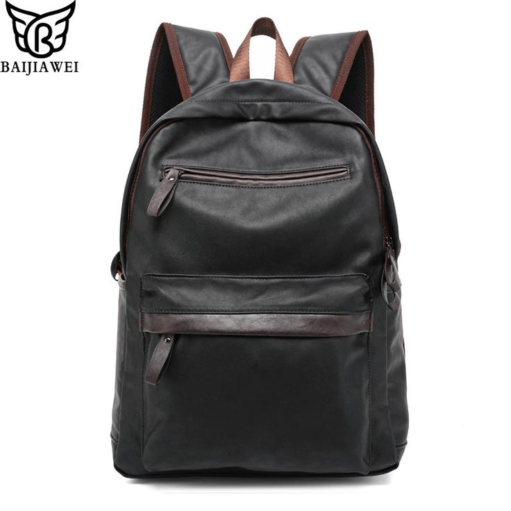 >>>Order2016 New Arrival Oil Wax Leather Backpack For Men Western College Style Bags Men's Casual Backpack