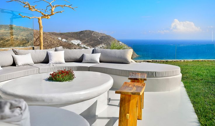 Found in Mykonos, in the area of Elia beach this magnificent vacation villa is the place where you can experience a unique feeling and enjoy living between heaven and earth. The unending sea views combined with buildings, architecture and interior design hand-over a masterpiece that can accommodate and please all guests.