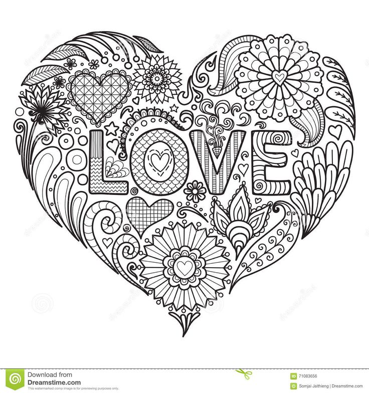 238 best Hearts \ Love Coloring Pages images on Pinterest Coloring - new love heart coloring pages to print
