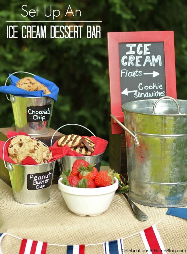 ice_cream_dessert_bar #icecream #summer