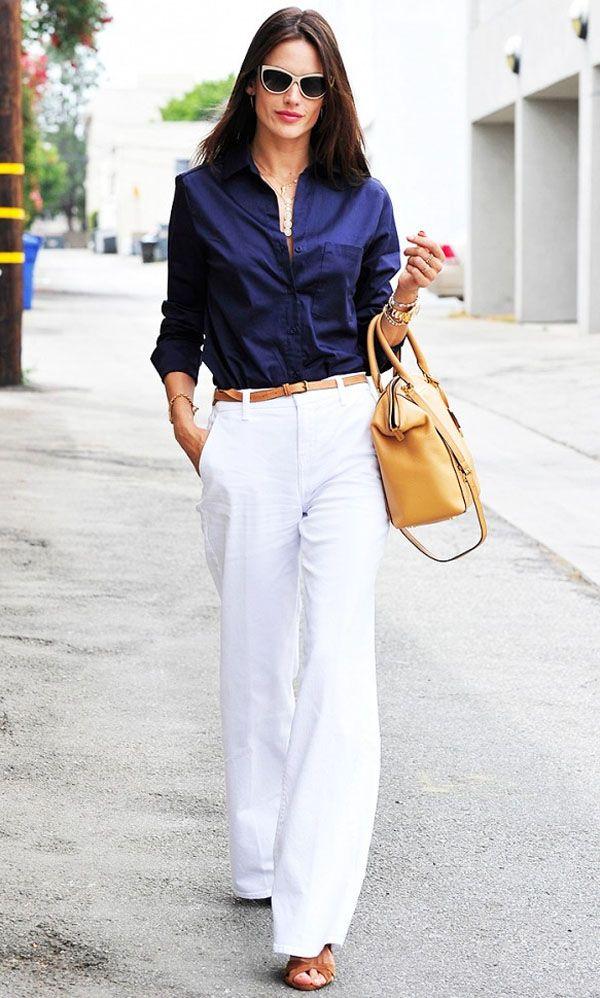 Look confortável e mega fashion para o escritório. A calça pantalona fica muito elegante para os ambientes mais corporativos.