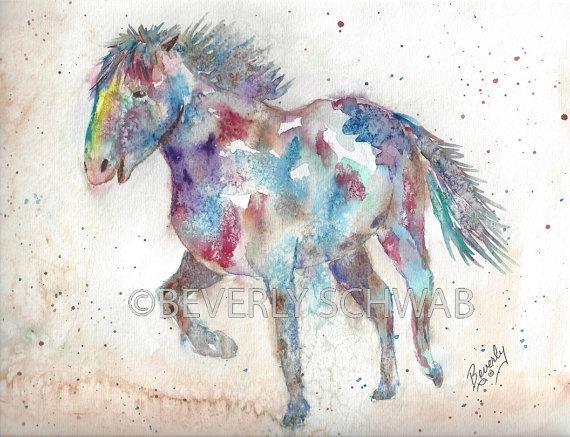 Freedom ORIGINAL Watercolor by ArtByBeverlySchwab on Etsy, $65.00