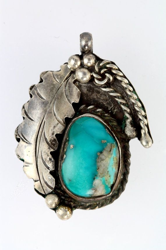 Navajo. Sterling Silver & Turquoise Pendant.
