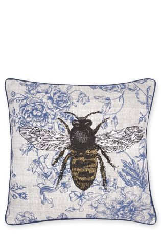Embroidered Wasp Cushion
