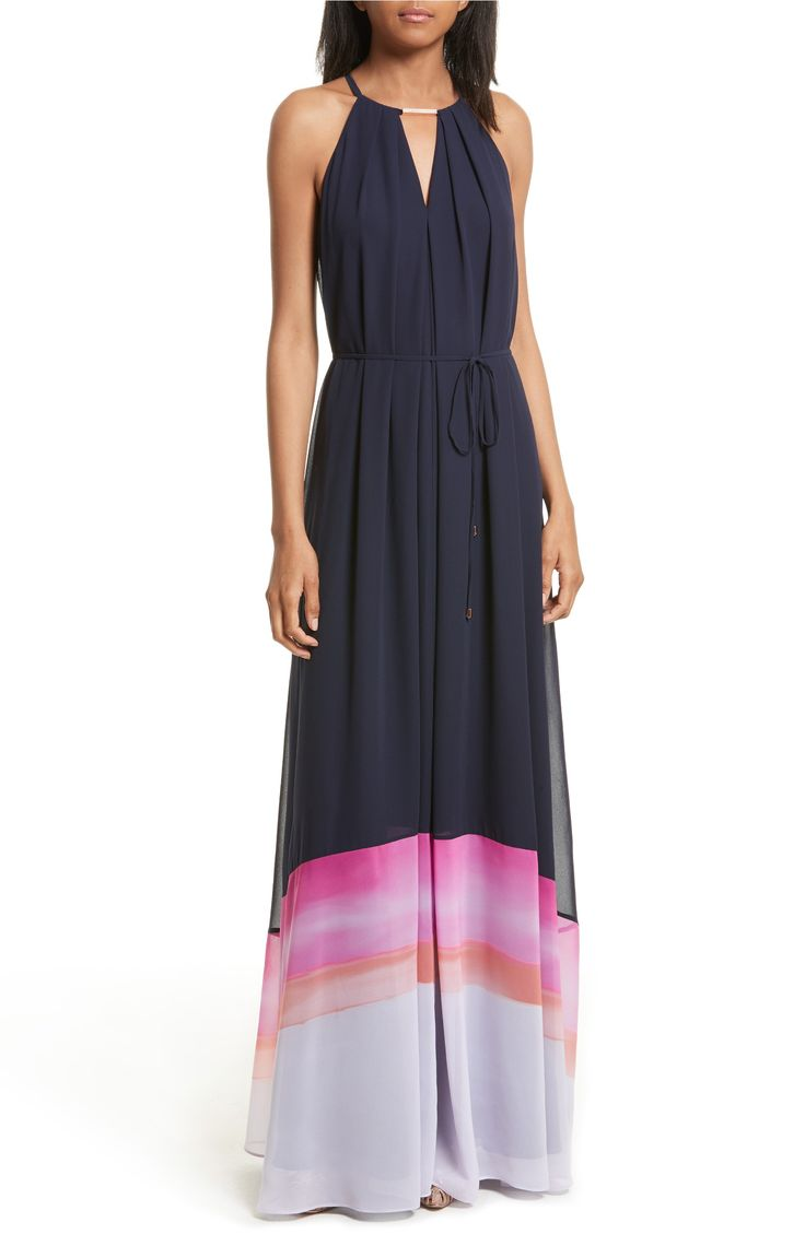 Dirndl Dresses London Ted Baker London Amirah Marina Mosaic Stripe Maxi Dress