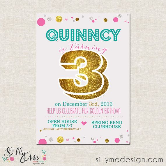 56 best images about Golden birthday ideas – Golden Birthday Invitation