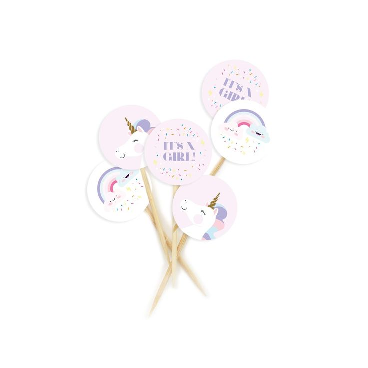 It's a Girl Cupcake Toppers – Lucky Lulu Party Shop