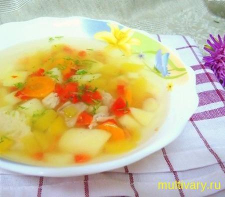 Суп с тыквой и сладким перцем фото, в мультиварке