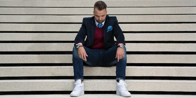 Herrenmode by IDEAL-FASHION SAKKO, JEANS! Outfit