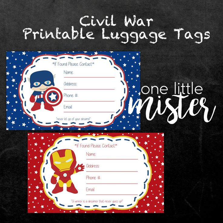 Top 25+ Best Printable Luggage Tags Ideas On Pinterest | Kids