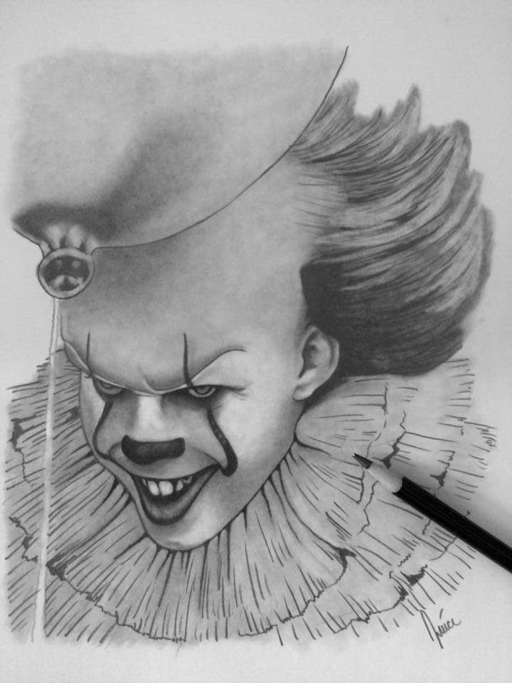"Pennywise pencil 8""x10"" (i.redd.it) submitted by ..."