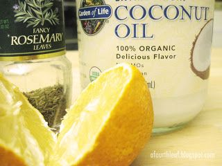 DIY: Natural Hair Lengthener (Coconut Oil, Lemon Juice  Dry Rosemary Leaves)