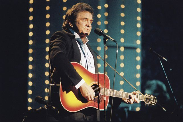 Johnny Cash on stage at the Cork Opera House (1989)