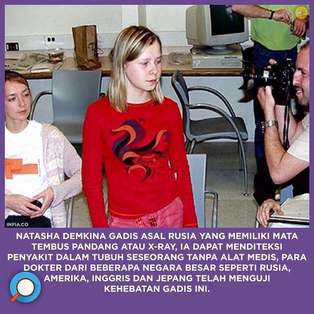 gadis rusia memiliki mata x-ray