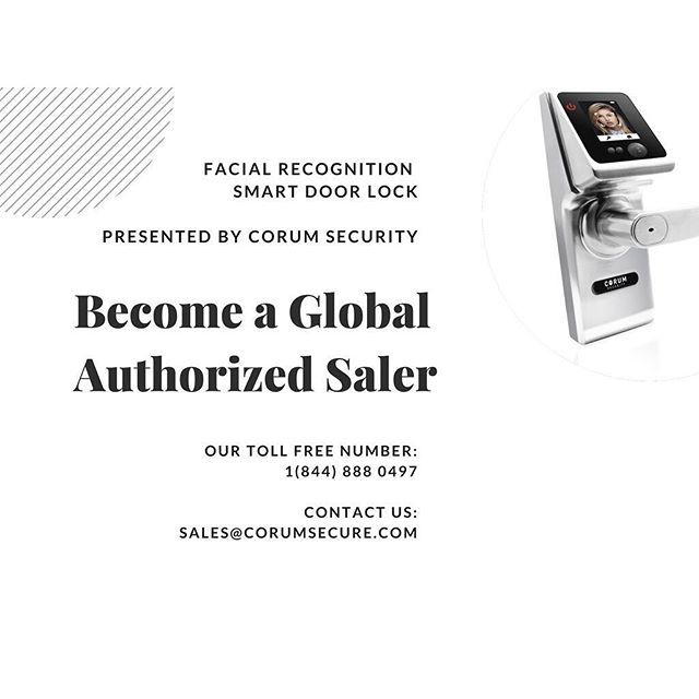 Corum Facial Recognition Smart Door Lock, perfect clksing deal gift for your client. Contact us and Be our authorized dealer today!  #realtor #realtorlife #realtorlife #realtorslife #realtor® #realestate #realestateagent #realestatebroker #realestatesales