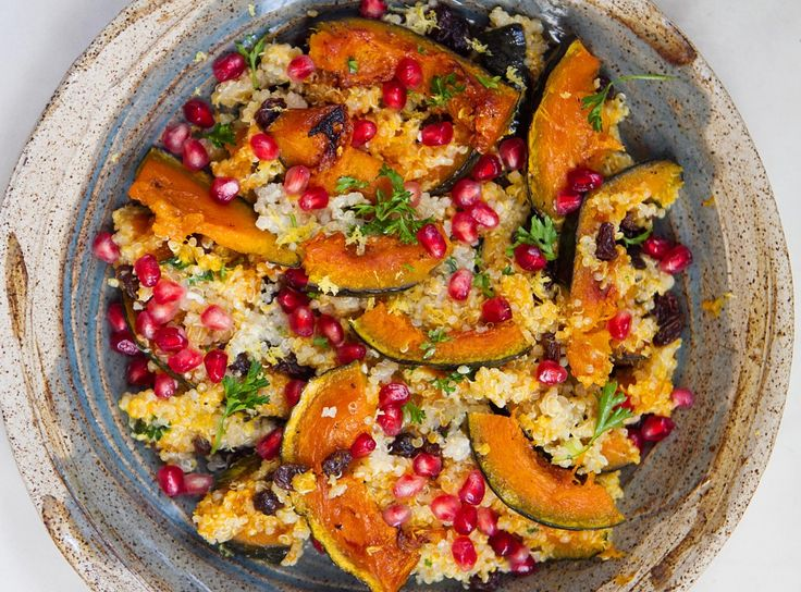 Quinoa with Acorn Squash and Pomegranate