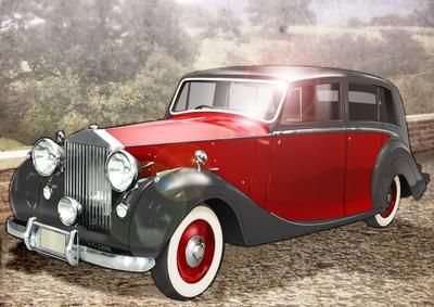 Vintage Art Deco Car Red  on Craftsuprint designed by Gordon Fraser - What could be more pleasant then a drive around the countryside in your pride and joy....your Rolls