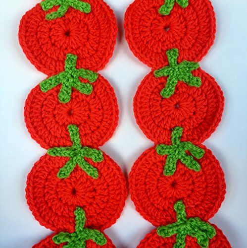 #Red #Tomato crochet #scarf, tomato scarf, #tomatoes scarf, r...