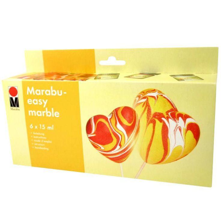 Kit peinture Easy Marble pour la marbrure 6 x 15 ml