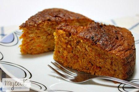 Bizcocho de zanahoria sin gluten