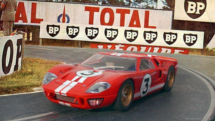 La Ford MkII Scalextric n°3 des 24 heures du Mans 1966. Histoire et essai de la voiture miniature de slot racing au 1/32ème pour circuit routier électrique.