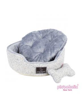 CAMA MUFFY, cama de color gris, con cojín reversible, lavable y con un tejido suave y gustoso. Solo una medida: 47cm X 10cm X 47 cm http://bit.ly/1jKo2NJ