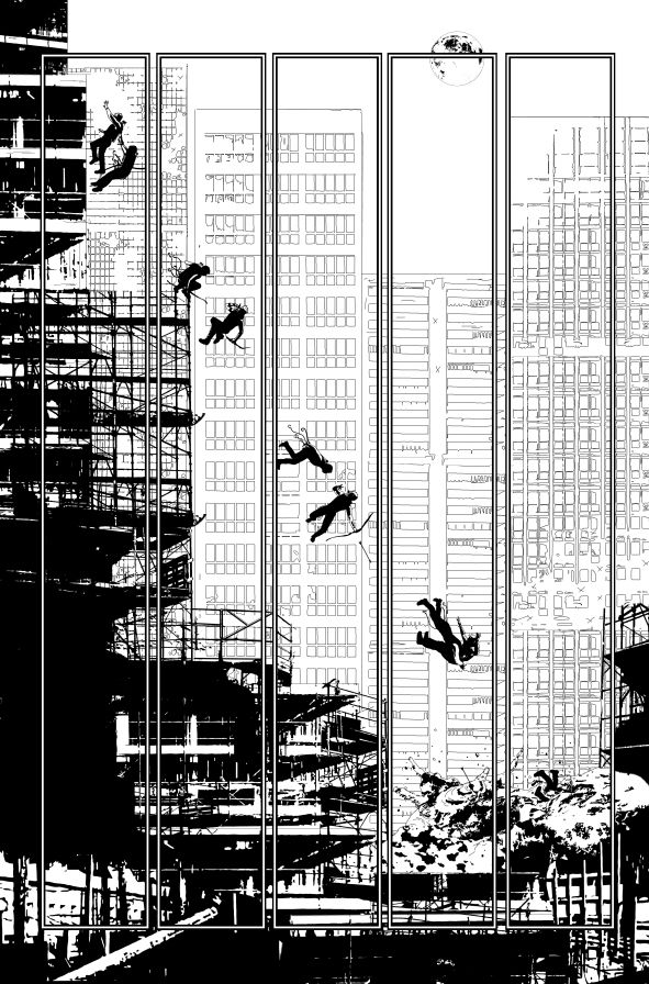 SEE THE FRANK MILLER DAREDEVIL INFLUENCE IN THIS PIECE?  GreenArrow#19_page05 by Andrea Sorrentino
