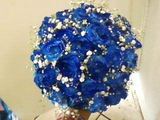 Dicas para noivas!: Buquê de Noiva Azul