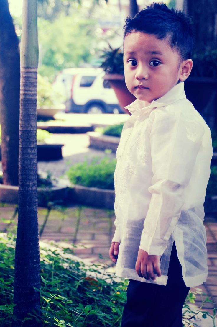 Mini Me In Barong Tagalog Filipino Wedding Filipiniana