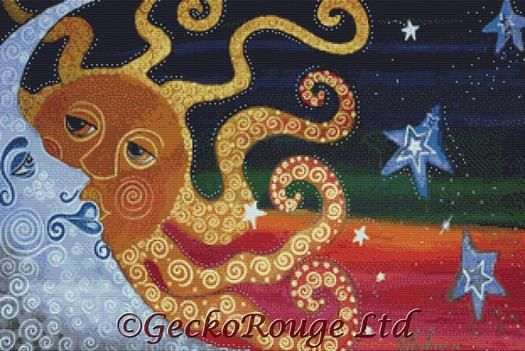 Modern Cross Stitch Kit 'Celestial' By Laura Barbosa by GeckoRouge