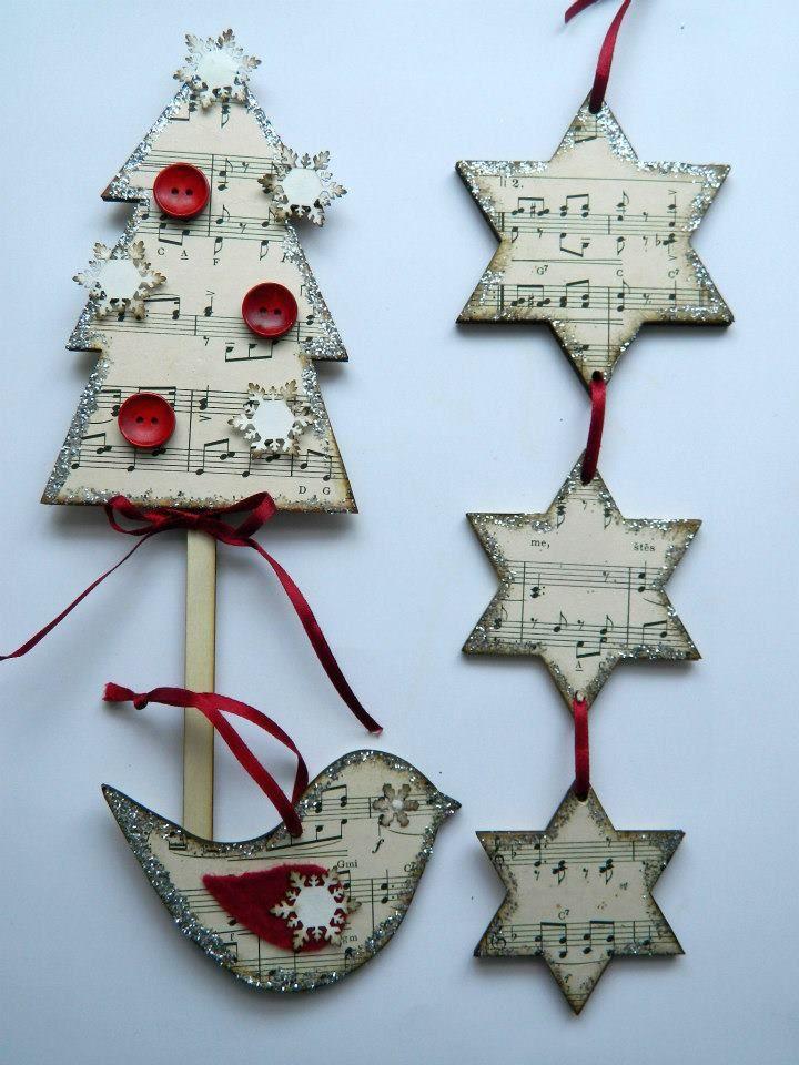 Tvoření od IVETULE: Notičkové vánoční tvoření.