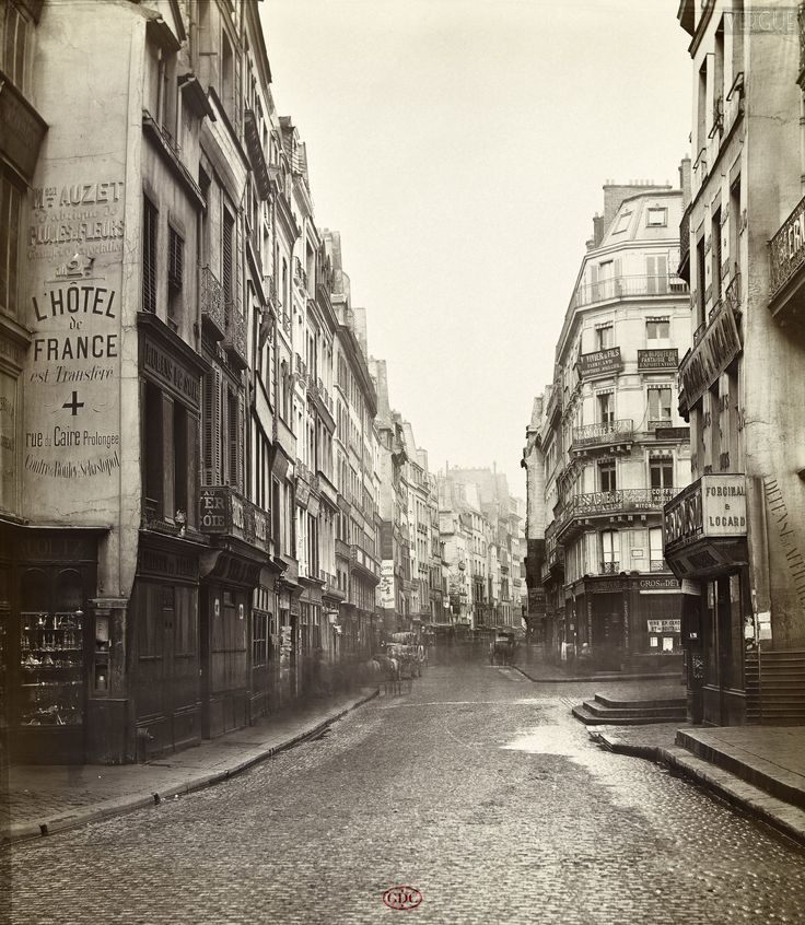 Charles Marville - Paris 1866 - Rue Saint Denis