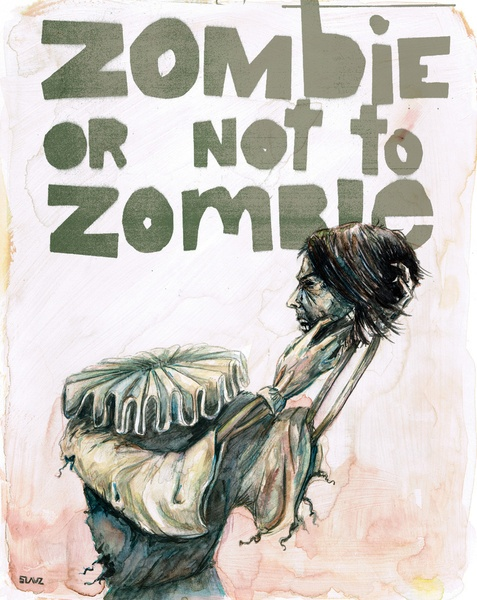Zombie + Shakespeare Art Print from Stephane Lauzon