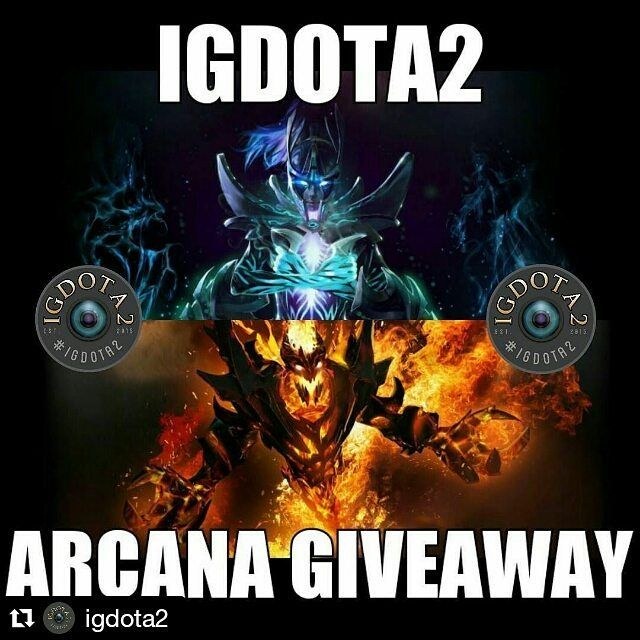 #Repost @igdota2 with @repostapp  We are giving out 2 Arcana Sets! Phantom Assassin's Manifold Paradox and Shadow Friend's Demon Eater!  How to stand a chance to win?  1) Tag 8 friends in the comments below 2) Follow @igdota2 and @dotapit 3) Repost the photo to your account 4) Leave your account 'Public'. If it's private we can't check if you did Steps 2 & 3!  If you win we will contact you and send you a Steam trade offer!  #igdota2 #dota2 #dota #facebook #twitter #instagram #snapchat #ps4…