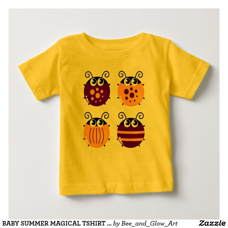 BABY SUMMER MAGICAL TSHIRT WITH BEES YELLOW