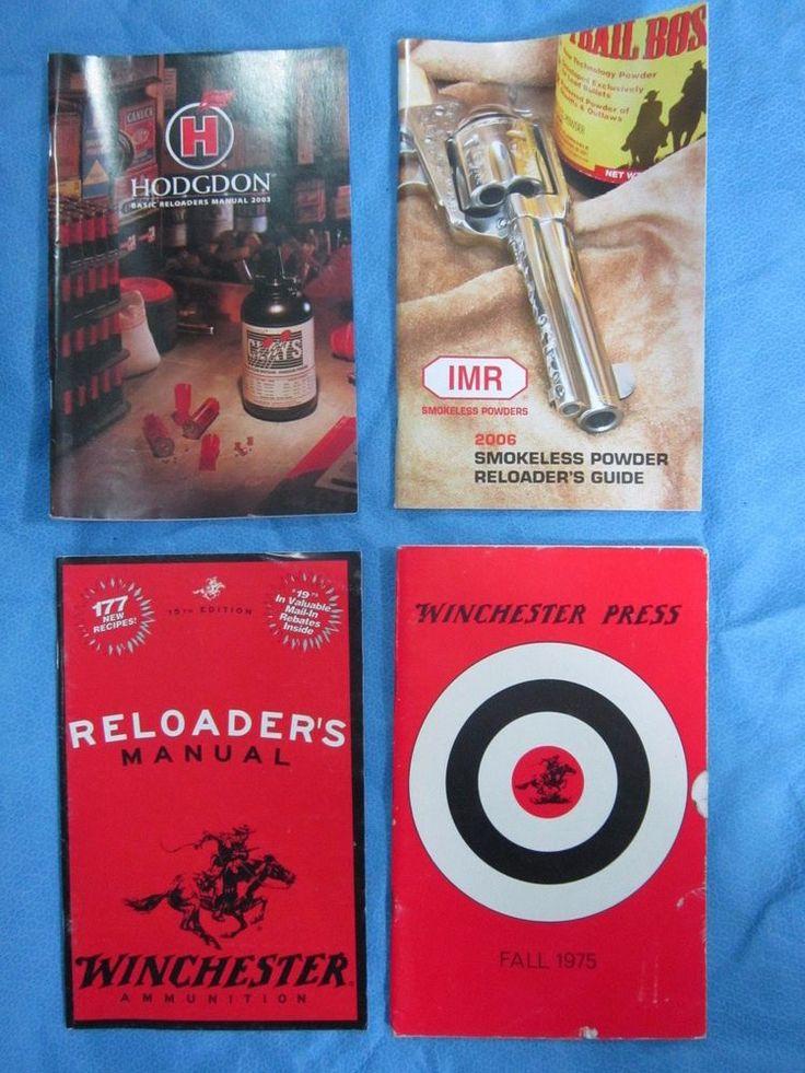 Vintage Powder / Reloading Manuals - set of 4 - Lot 2