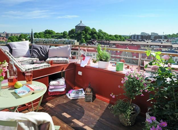 Best Balcony Gardens Images On Pinterest Small Balconies - Adore small spaces 22 compact modern ideas outdoor seating areas
