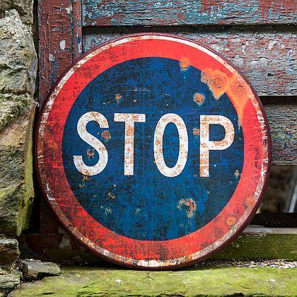 Enamel Stop Sign