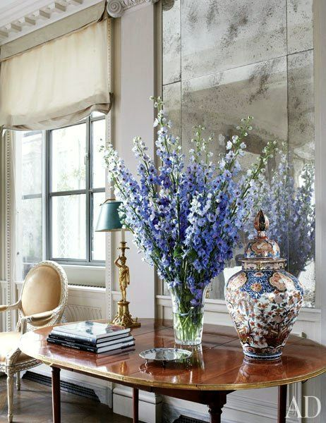 styling ideas for tables, chests and consoles   laurel home blog   Michael S. Smith   lovely vignette and styling
