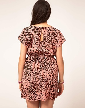 ASOS CURVE Skater Dress In Leopard Print