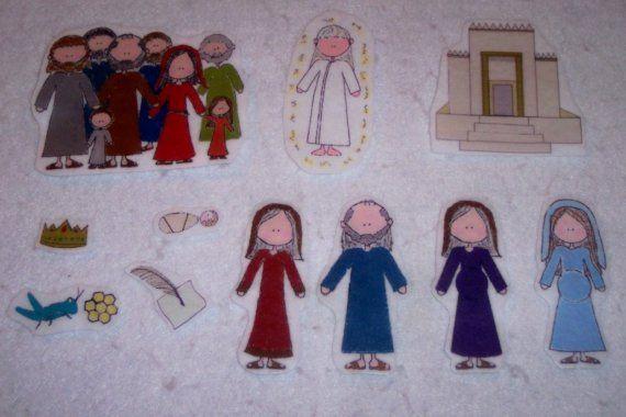 Birth of John the Baptist Flannel Board Story Bible  Felt Set on Etsy, $10.00