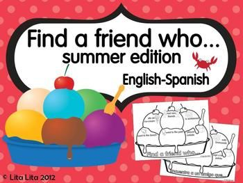 FREE    Find a friend who - summer edition