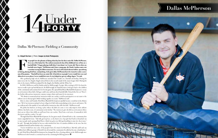 """Dallas McPherson is fielding a community through his successful Hard Knox Baseball Development Academy in McDonough. His work with kids and the community is why he made our """"14 Under 40"""" list in 2015!"""