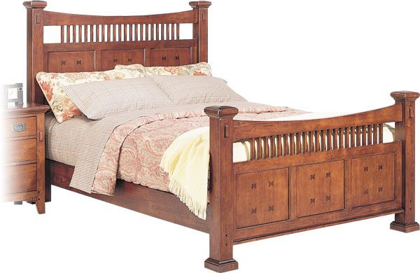 Rooms to go mission style further ado a queen for Mission style bed frame plans