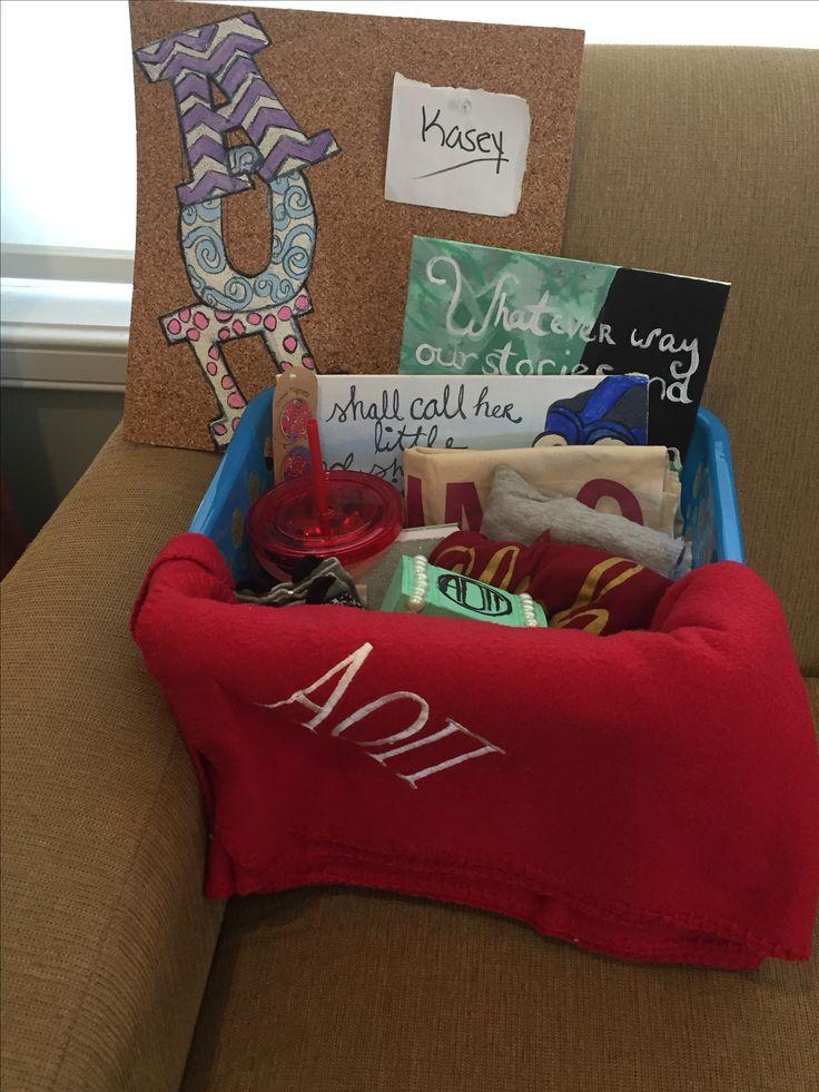 ROSE WEEK / big little week gift basket AOII